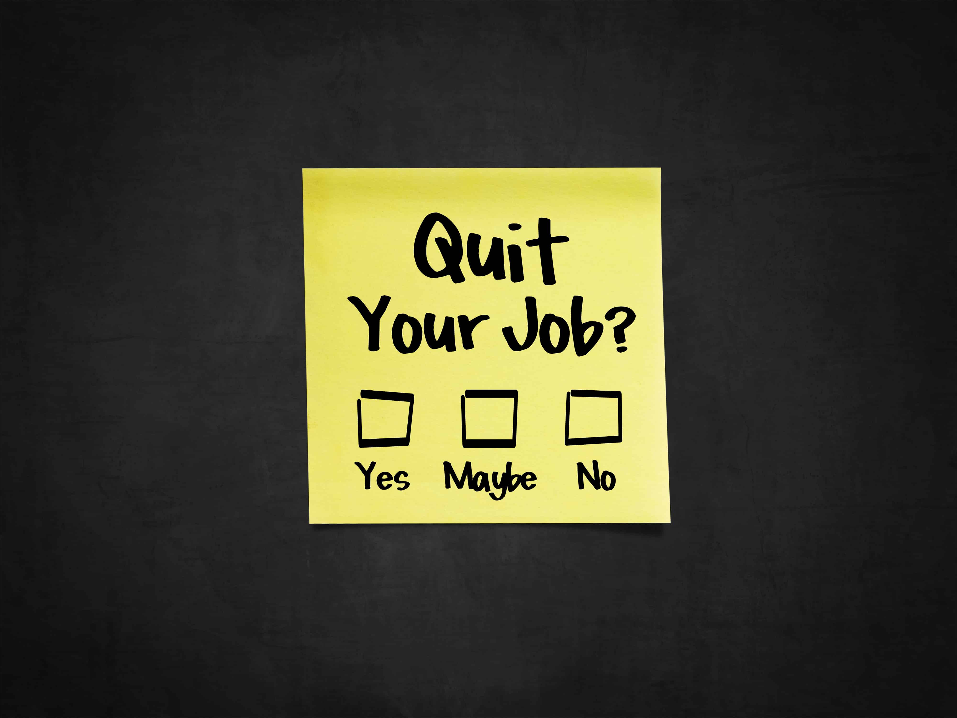 Quitting your job without another lined up